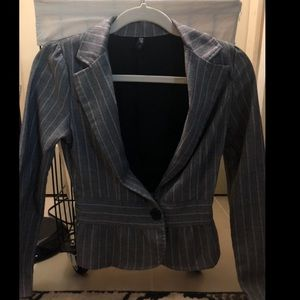 Pin striped blazer